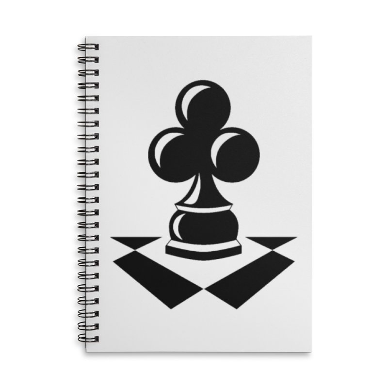 Chess Club Black Accessories Lined Spiral Notebook by chessclub's Artist Shop