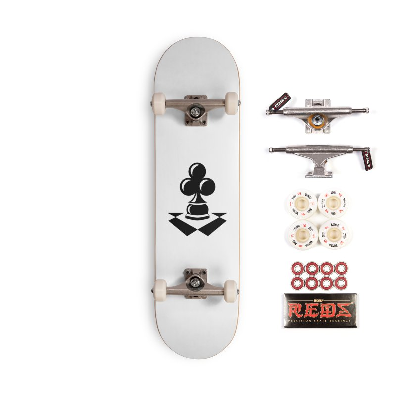 Chess Club Black Accessories Complete - Pro Skateboard by chessclub's Artist Shop