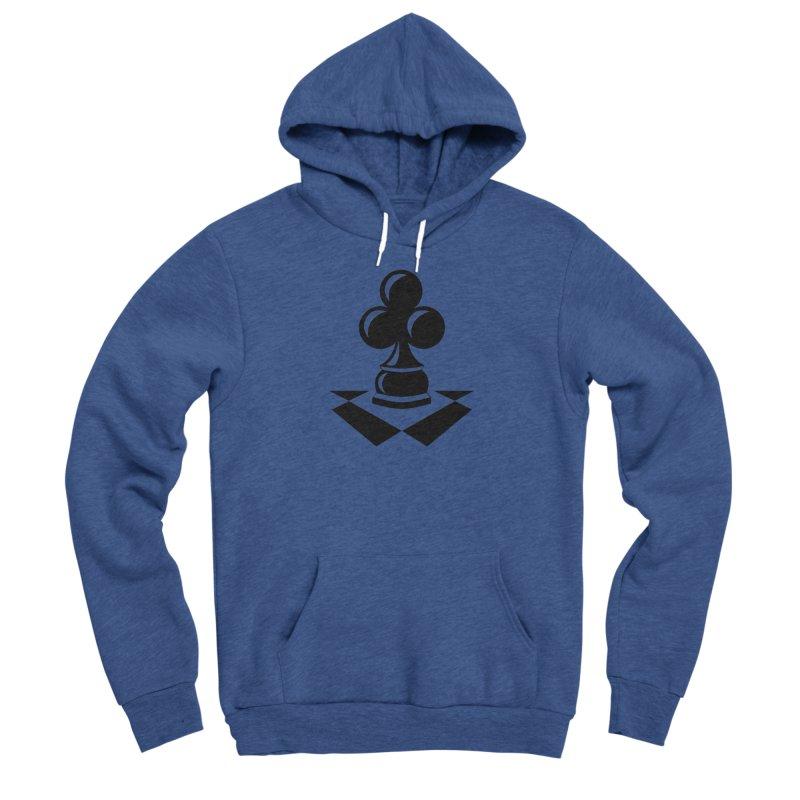 Chess Club Black Men's Sponge Fleece Pullover Hoody by chessclub's Artist Shop