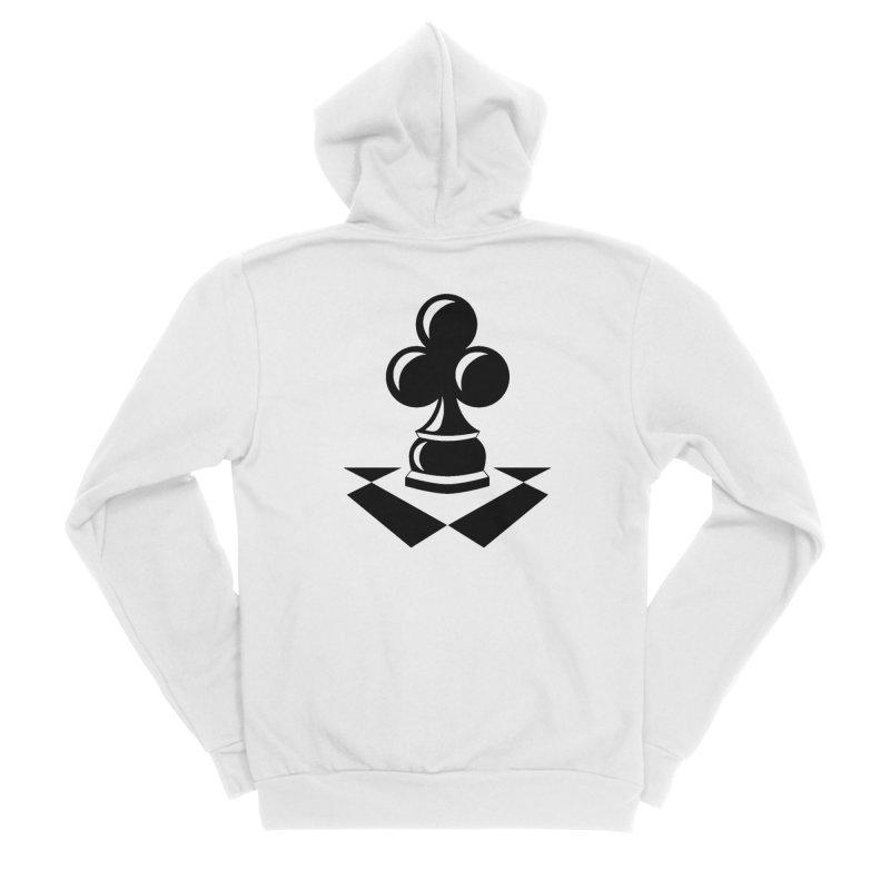 Chess Club Black Men's Sponge Fleece Zip-Up Hoody by chessclub's Artist Shop