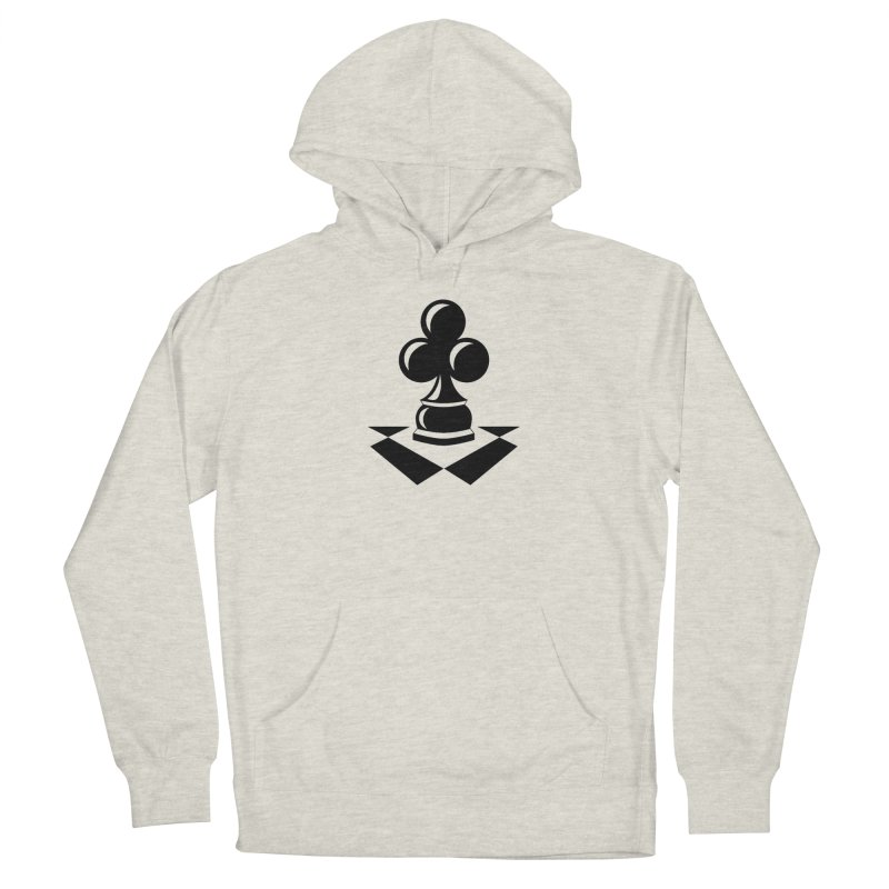 Chess Club Black Men's French Terry Pullover Hoody by chessclub's Artist Shop