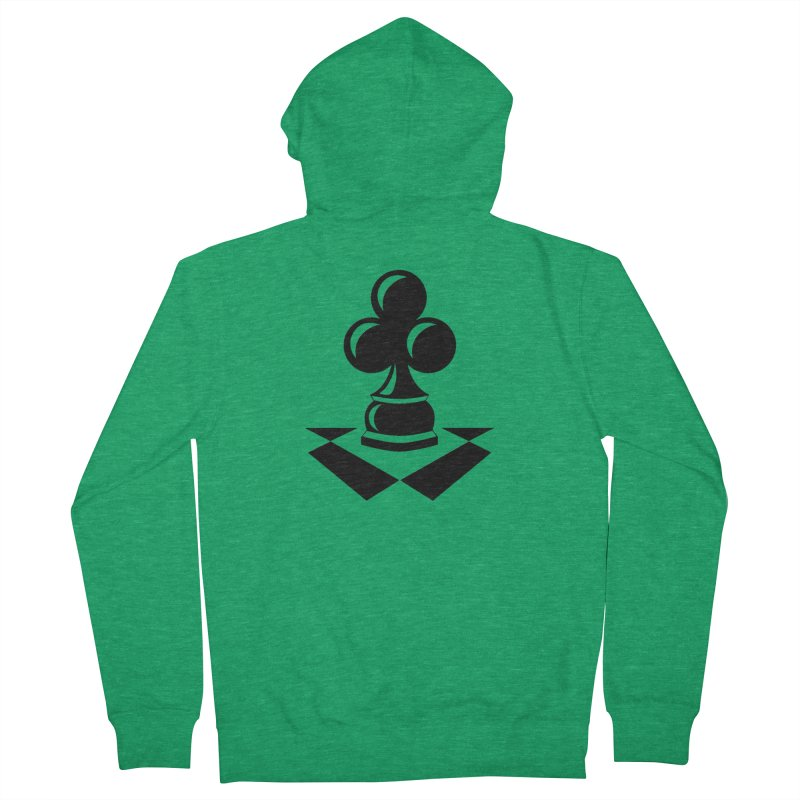 Chess Club Black Women's French Terry Zip-Up Hoody by chessclub's Artist Shop