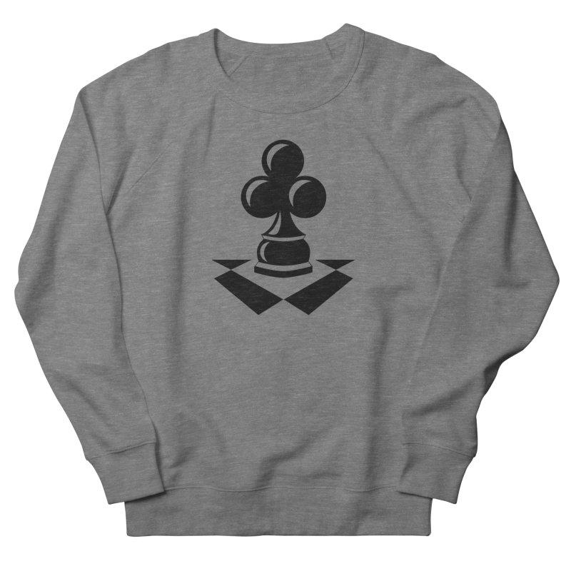 Chess Club Black Men's French Terry Sweatshirt by chessclub's Artist Shop
