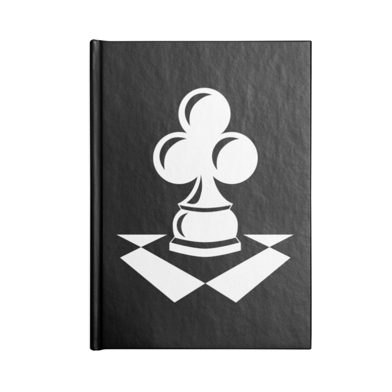 Chess Club White Accessories Lined Journal Notebook by chessclub's Artist Shop