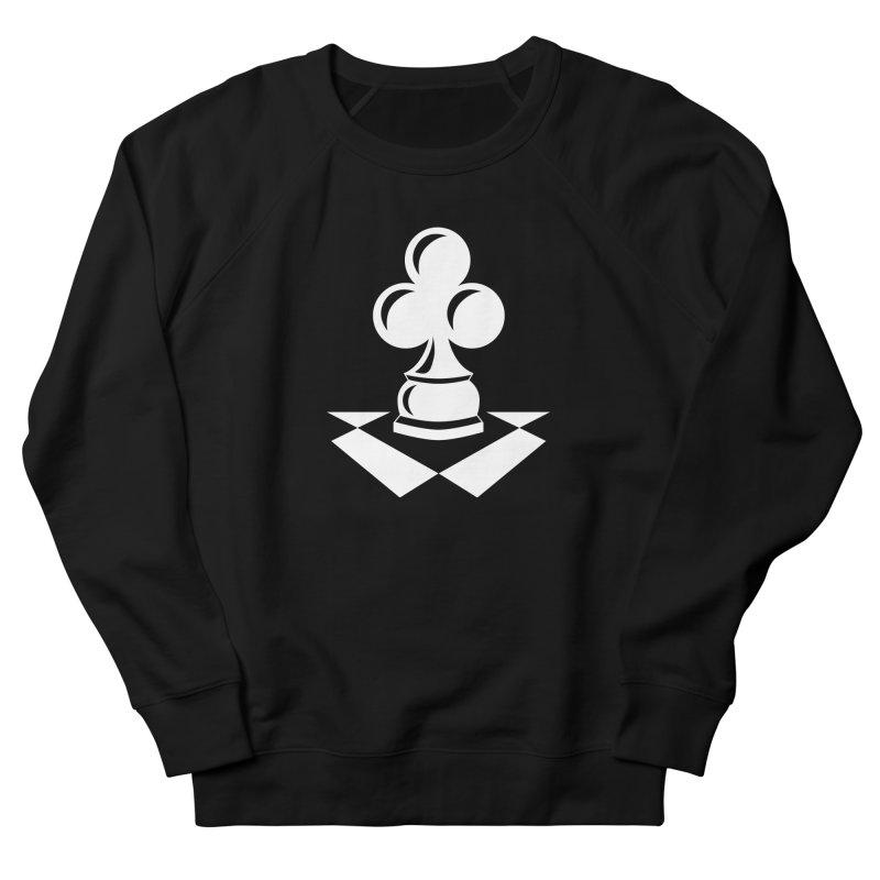 Chess Club White Men's French Terry Sweatshirt by chessclub's Artist Shop