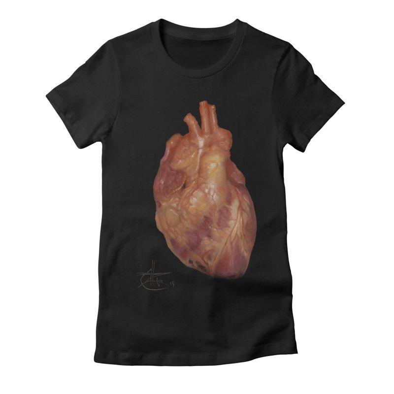 Red Heart Women's T-Shirt by chetzar's Artist Shop