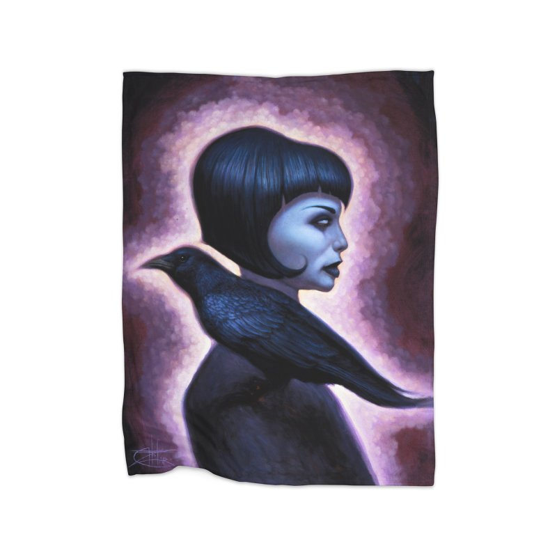 CrowGirl Home Blanket by chetzar's Artist Shop
