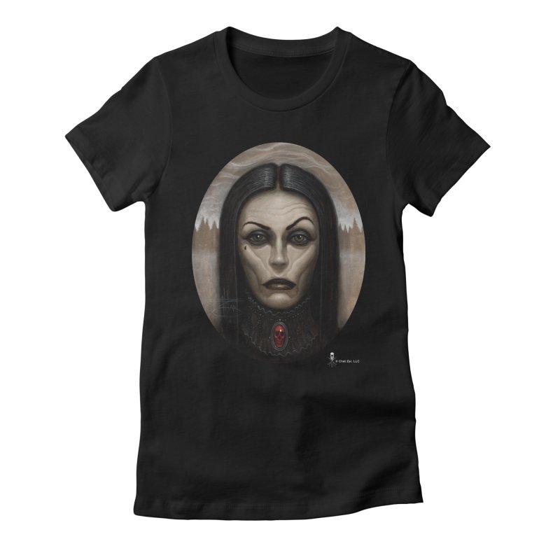 Black Witch Women's T-Shirt by chetzar's Artist Shop
