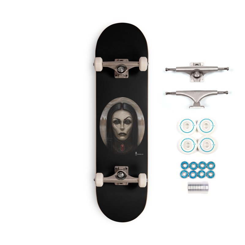 Black Witch Accessories Skateboard by chetzar's Artist Shop