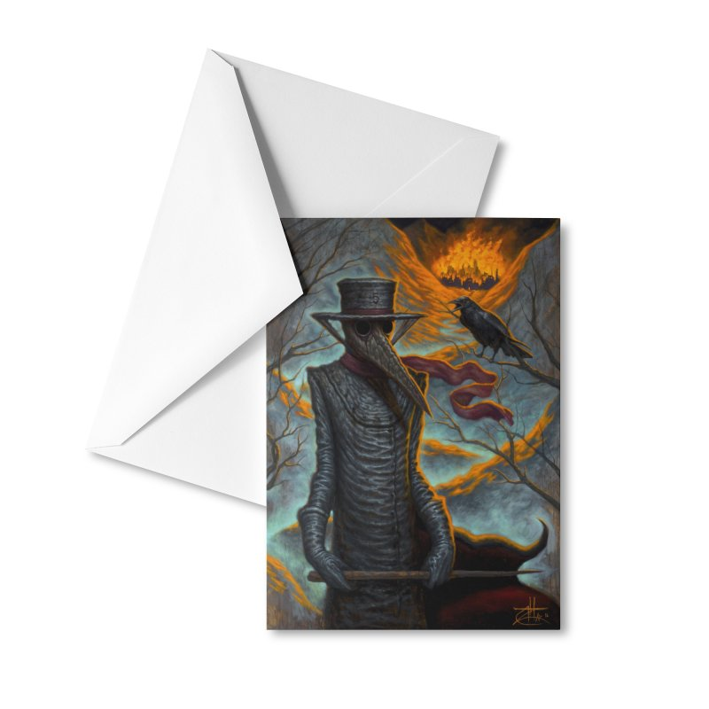 Plague Doctor Accessories Greeting Card by chetzar's Artist Shop