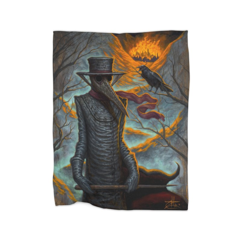 Plague Doctor Home Blanket by chetzar's Artist Shop