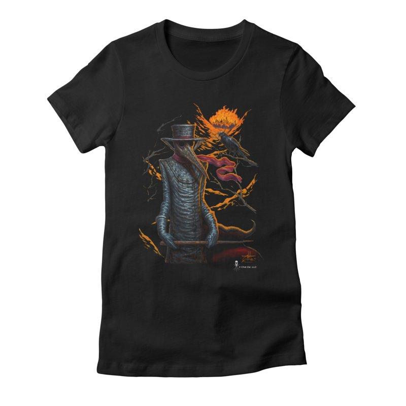 Plague Doctor Women's T-Shirt by chetzar's Artist Shop