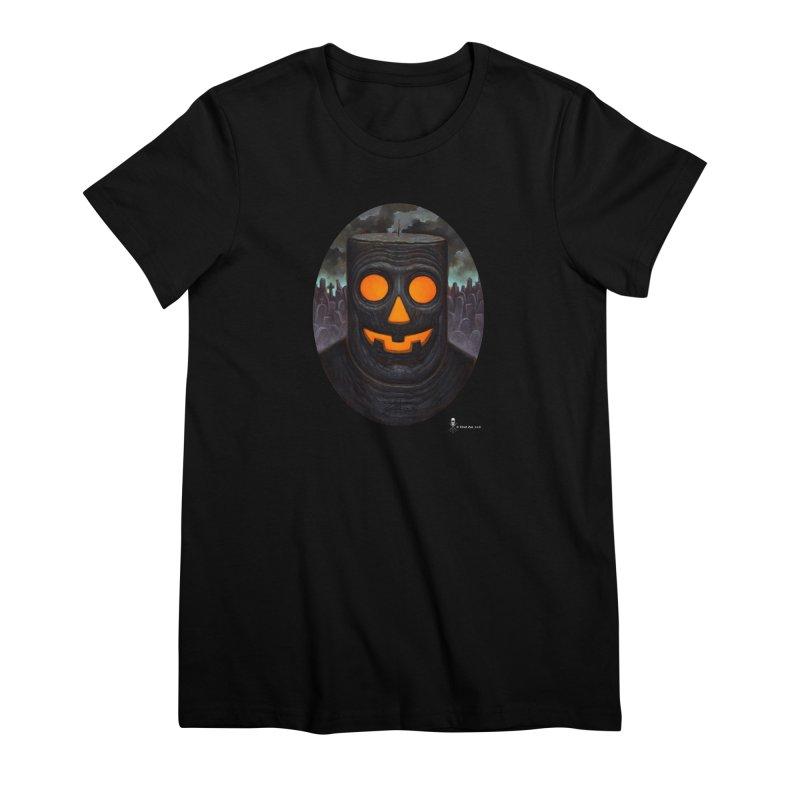 Halloween Robot Women's T-Shirt by chetzar's Artist Shop