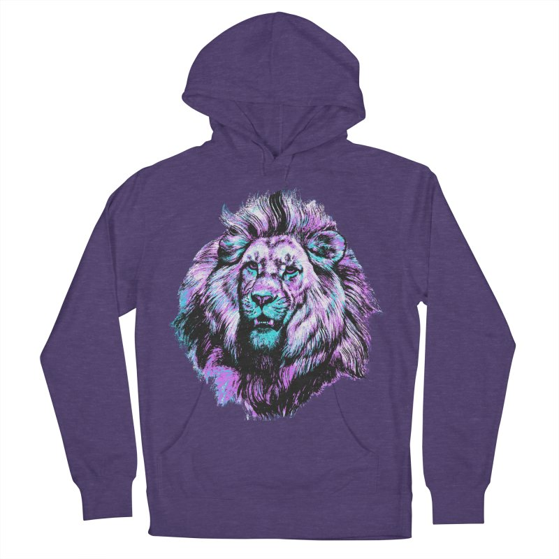 The Neon King Men's French Terry Pullover Hoody by chevsy's Artist Shop