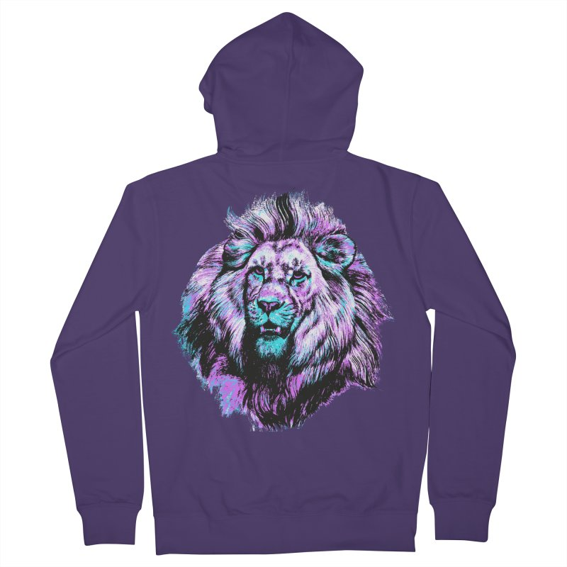 The Neon King Women's French Terry Zip-Up Hoody by chevsy's Artist Shop
