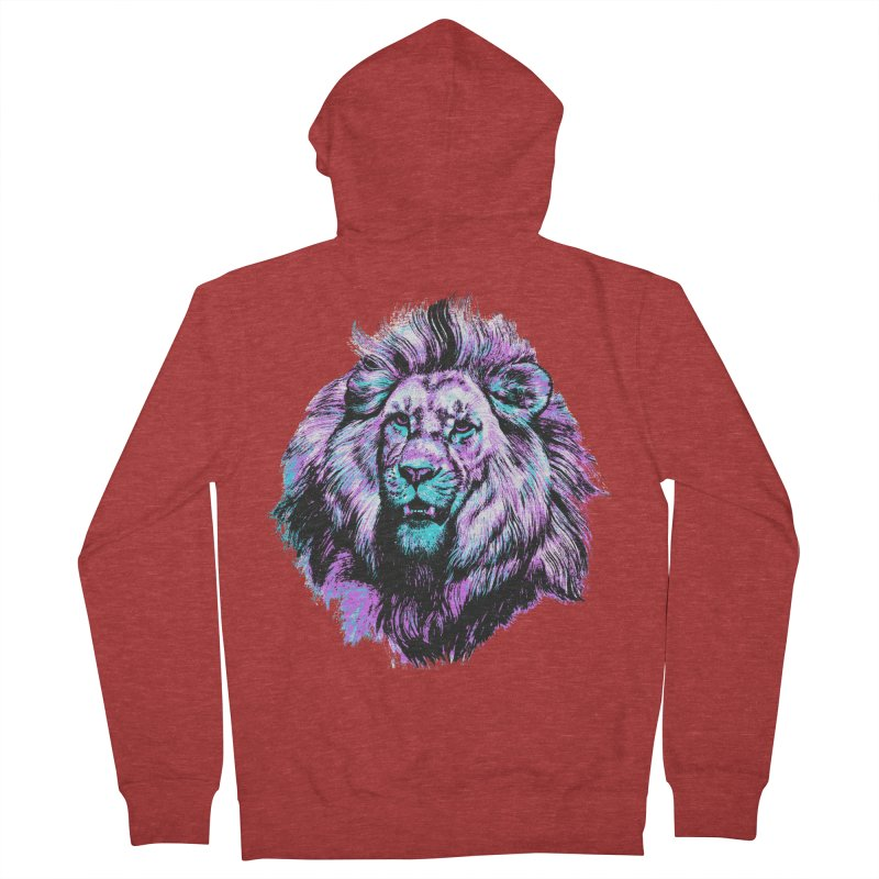 The Neon King Men's French Terry Zip-Up Hoody by chevsy's Artist Shop