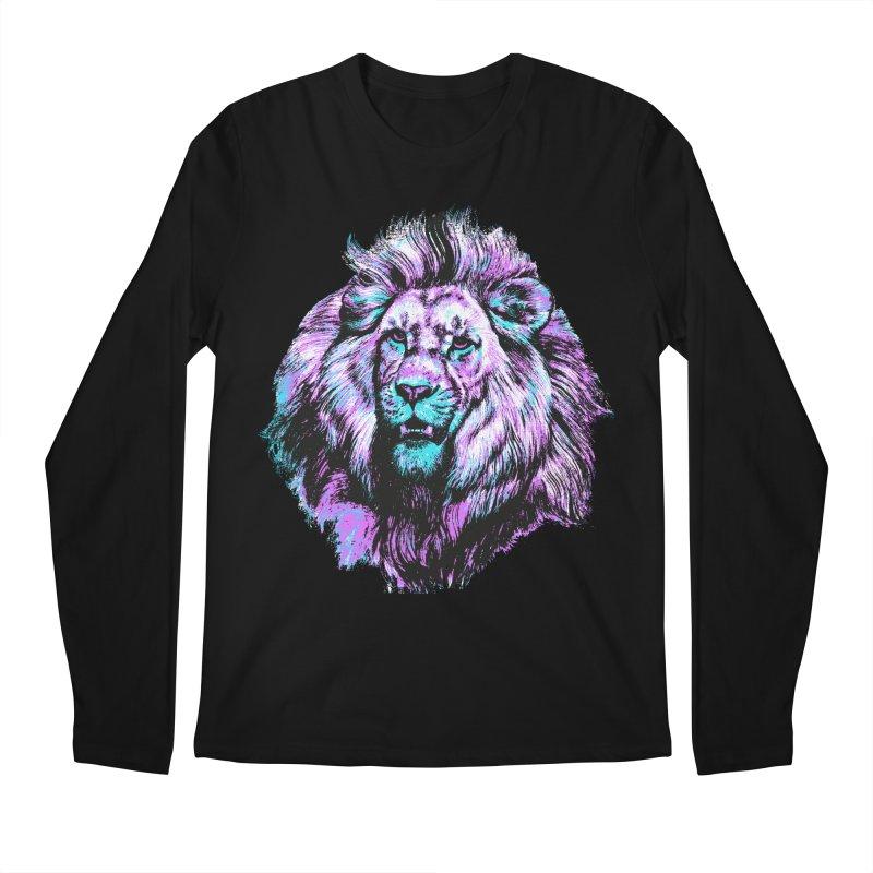 The Neon King Men's Regular Longsleeve T-Shirt by chevsy's Artist Shop