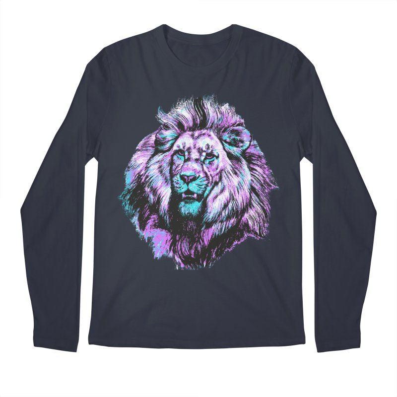 The Neon King Men's Regular Longsleeve T-Shirt by chevsy's Artist Shop