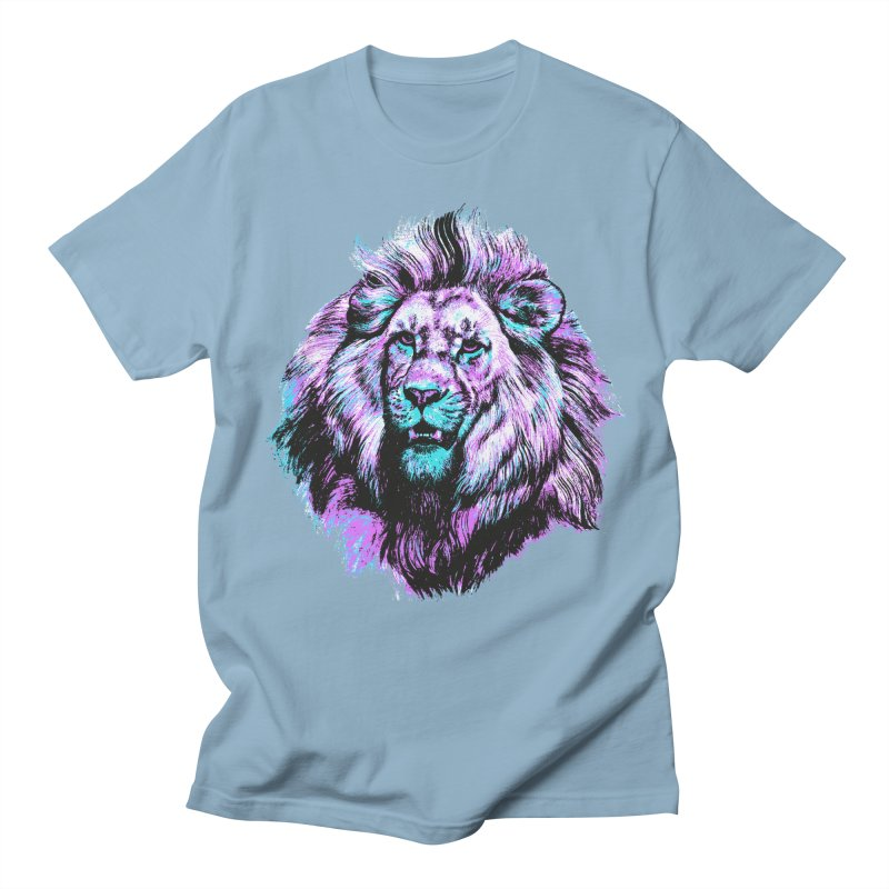 The Neon King Men's Regular T-Shirt by chevsy's Artist Shop