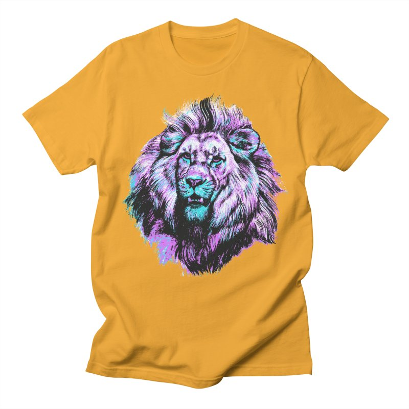 The Neon King Men's Regular T-Shirt by chevsy's Artist Shop