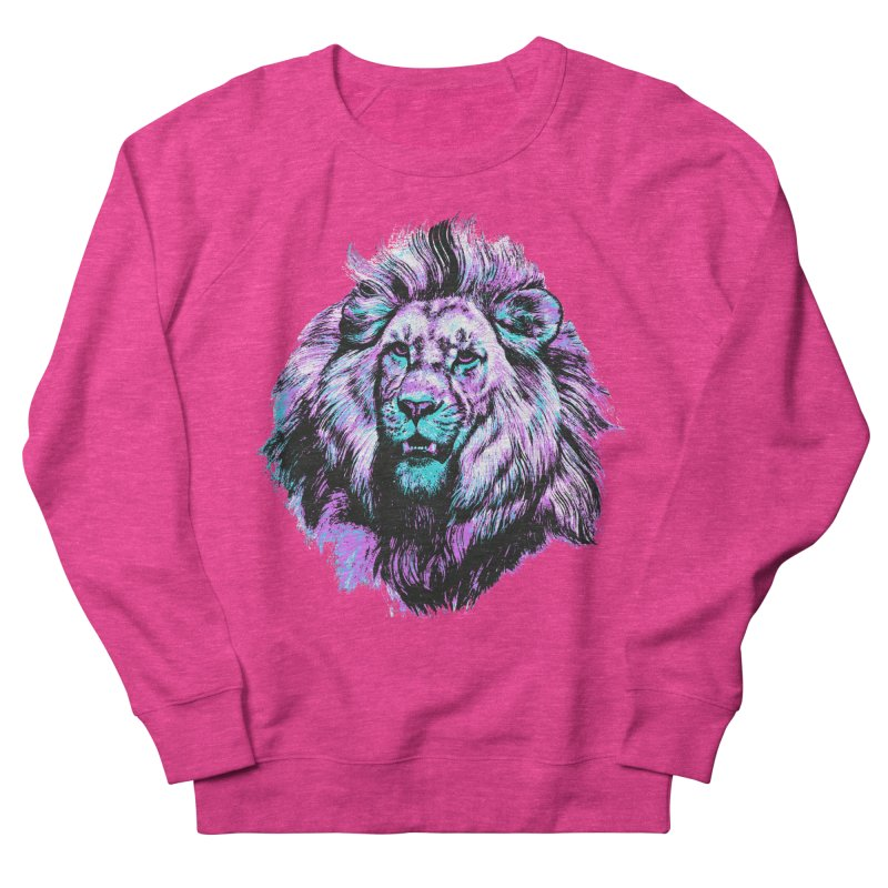 The Neon King Men's French Terry Sweatshirt by chevsy's Artist Shop