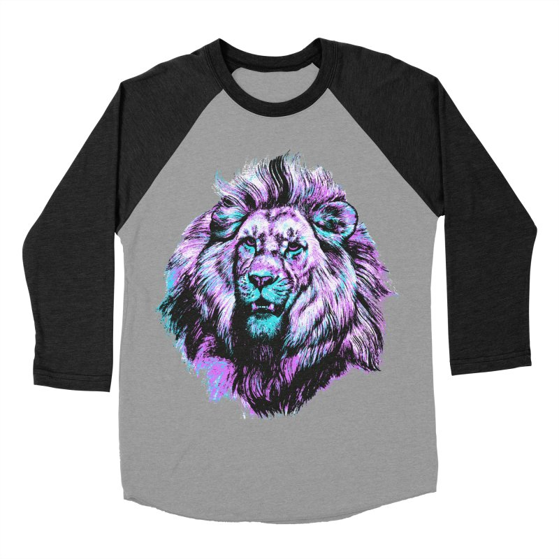 The Neon King Men's Baseball Triblend Longsleeve T-Shirt by chevsy's Artist Shop