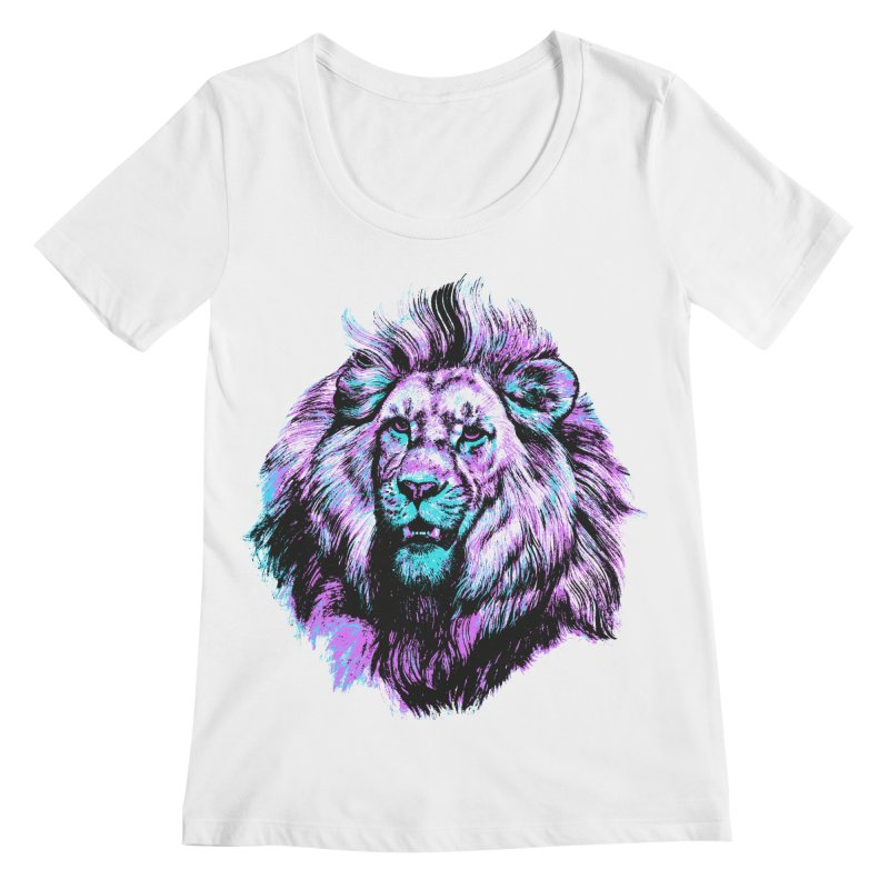 The Neon King Women's Scoopneck by chevsy's Artist Shop