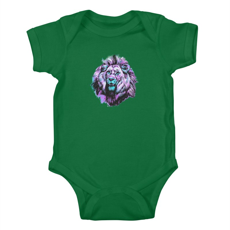 The Neon King Kids Baby Bodysuit by chevsy's Artist Shop