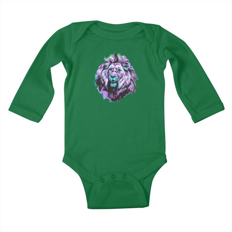 The Neon King Kids Baby Longsleeve Bodysuit by chevsy's Artist Shop