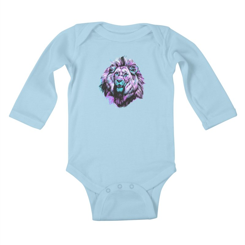 The Neon King Kids Baby Longsleeve Bodysuit by chevsy's Artist Shop