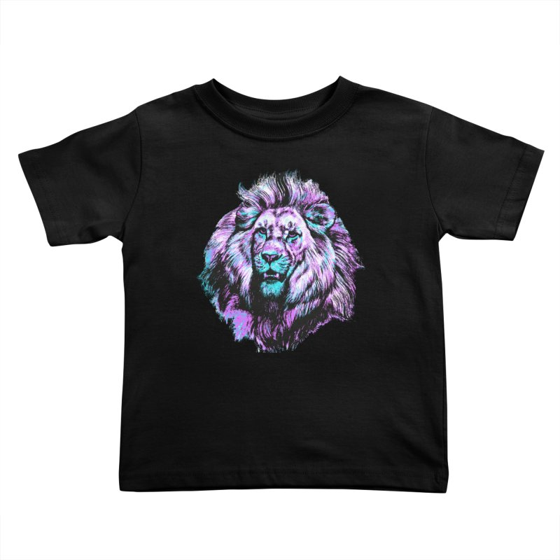 The Neon King Kids Toddler T-Shirt by chevsy's Artist Shop
