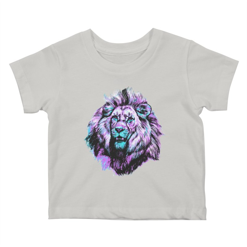 The Neon King Kids Baby T-Shirt by chevsy's Artist Shop