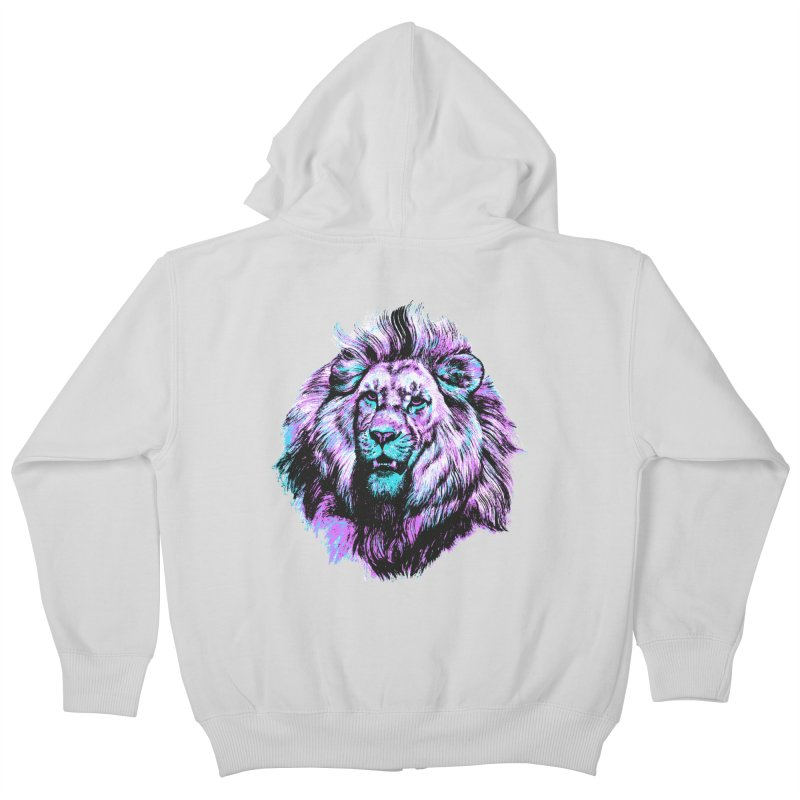 The Neon King Kids Zip-Up Hoody by chevsy's Artist Shop