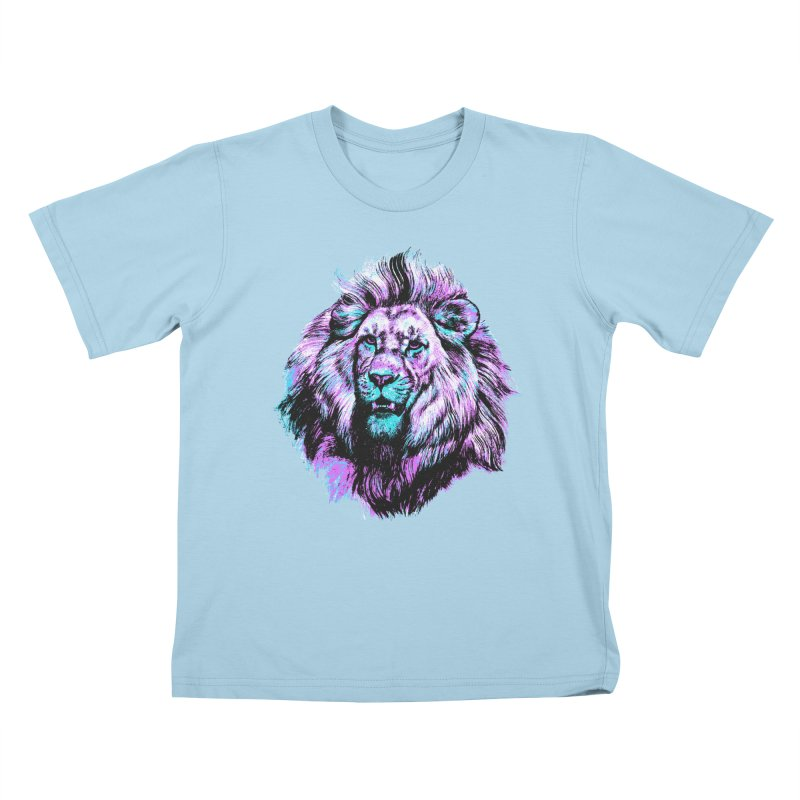 The Neon King Kids T-shirt by chevsy's Artist Shop