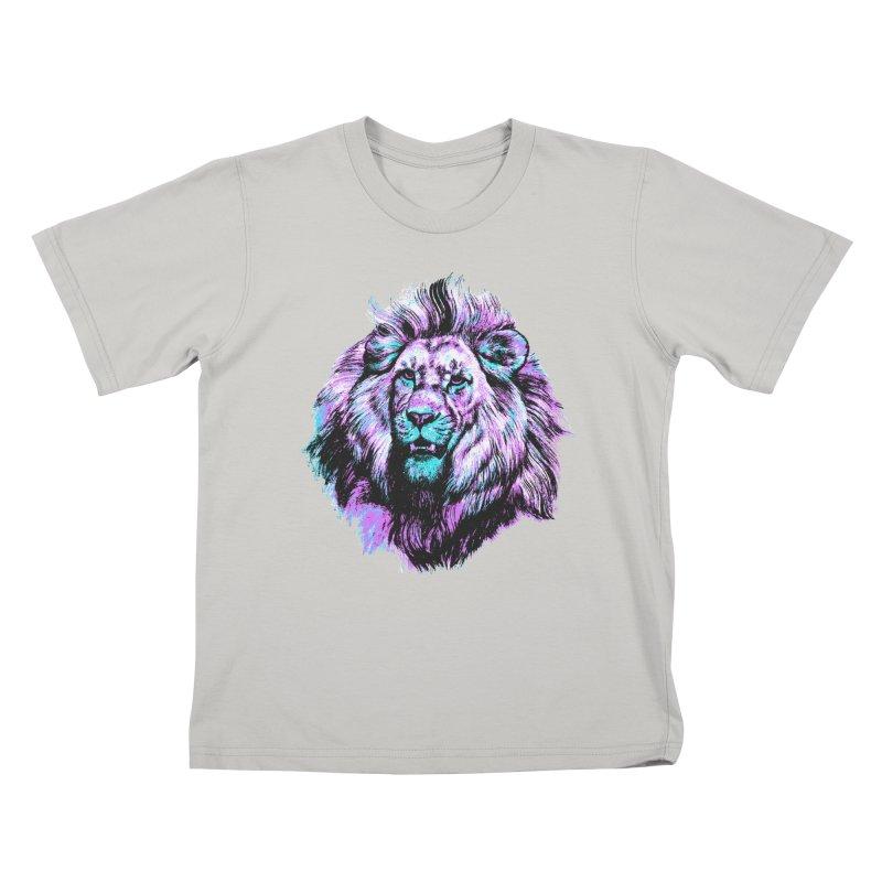 The Neon King Kids T-shirt by chevsy's Artist Shop