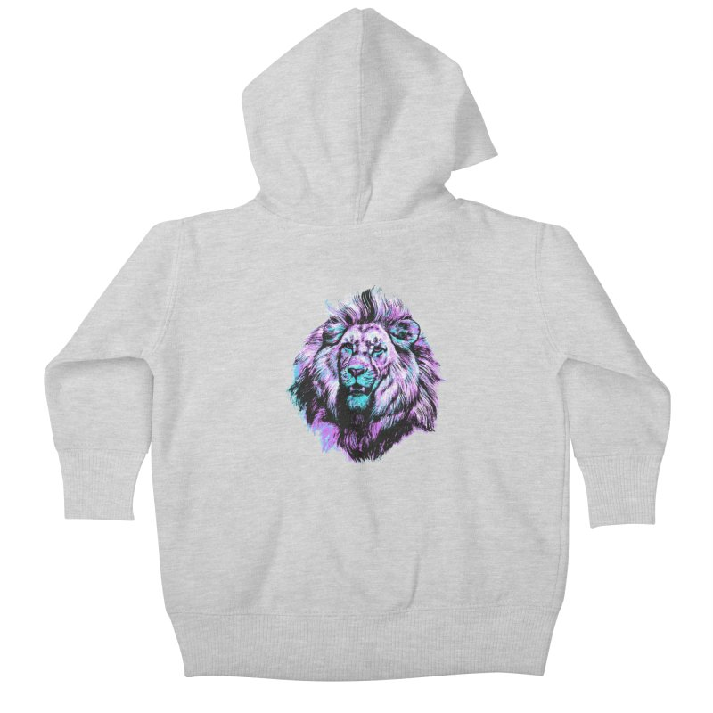 The Neon King Kids Baby Zip-Up Hoody by chevsy's Artist Shop