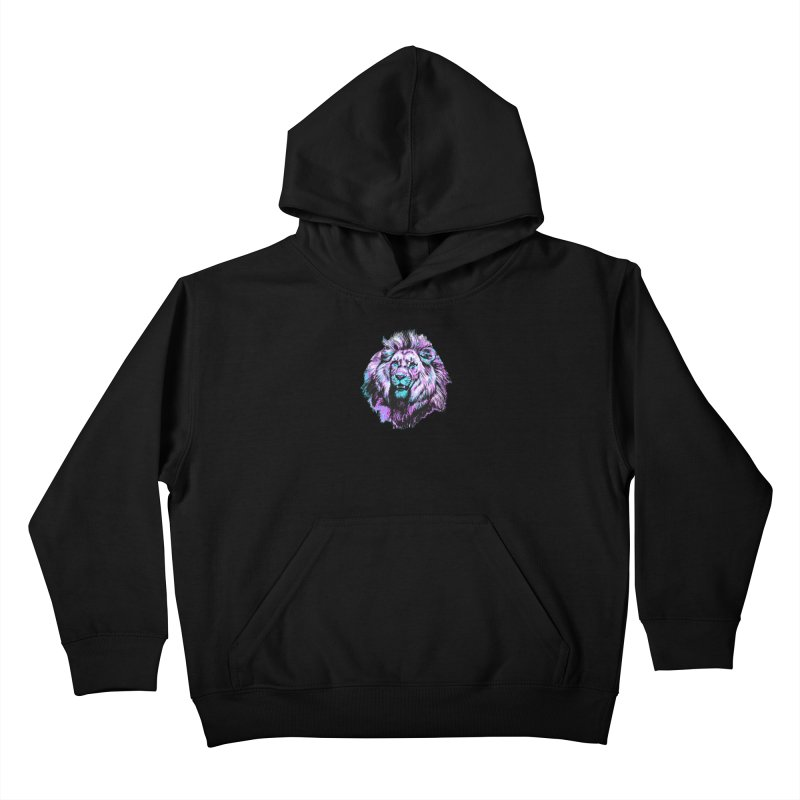The Neon King Kids Pullover Hoody by chevsy's Artist Shop
