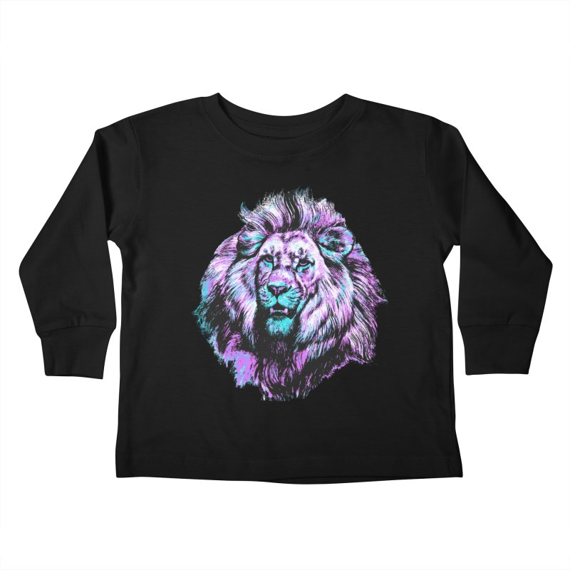 The Neon King Kids Toddler Longsleeve T-Shirt by chevsy's Artist Shop