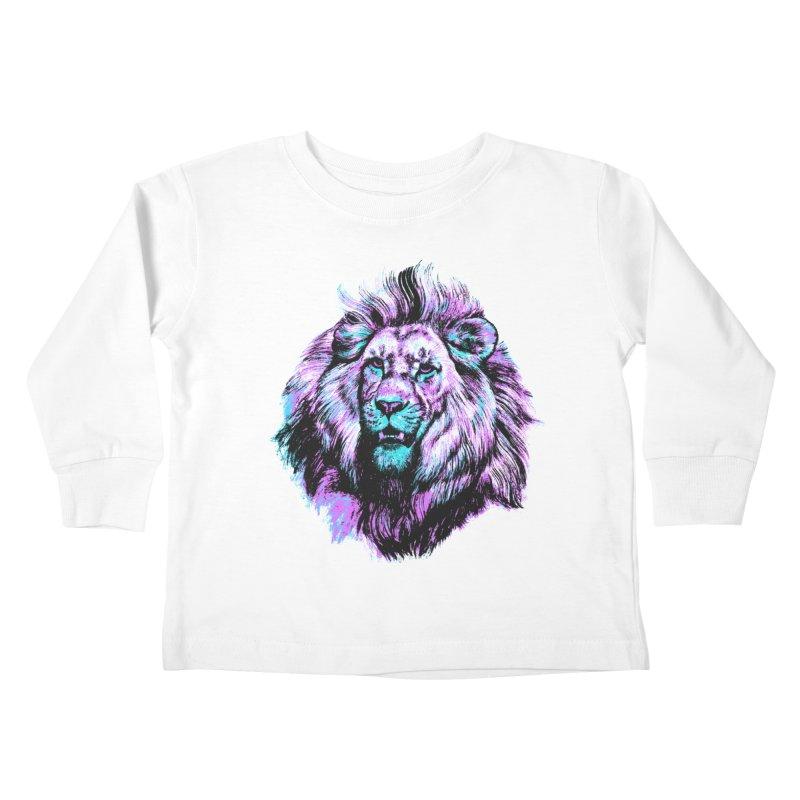 The Neon King Kids Toddler Longsleeve T-Shirt by chevsy's Artist Shop