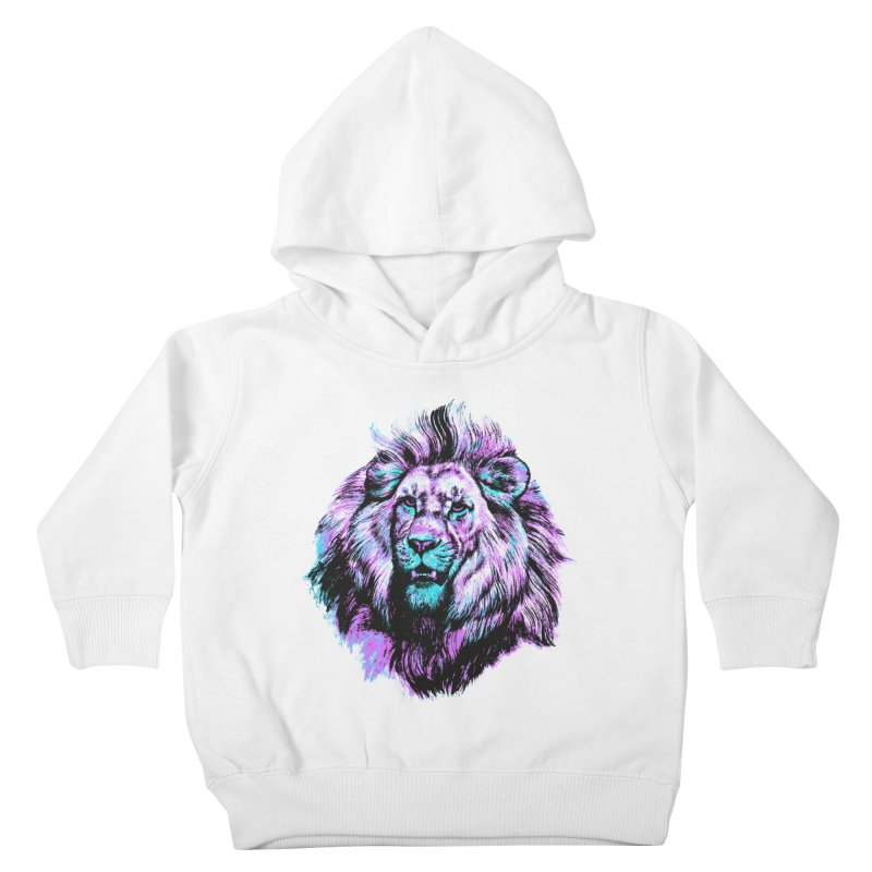 The Neon King Kids Toddler Pullover Hoody by chevsy's Artist Shop