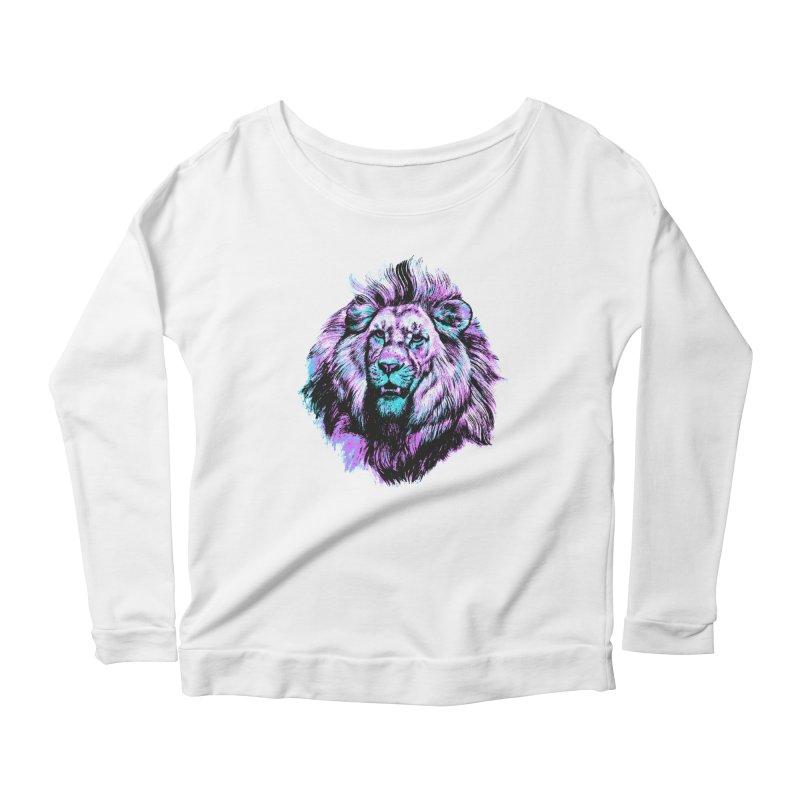 The Neon King Women's Scoop Neck Longsleeve T-Shirt by chevsy's Artist Shop