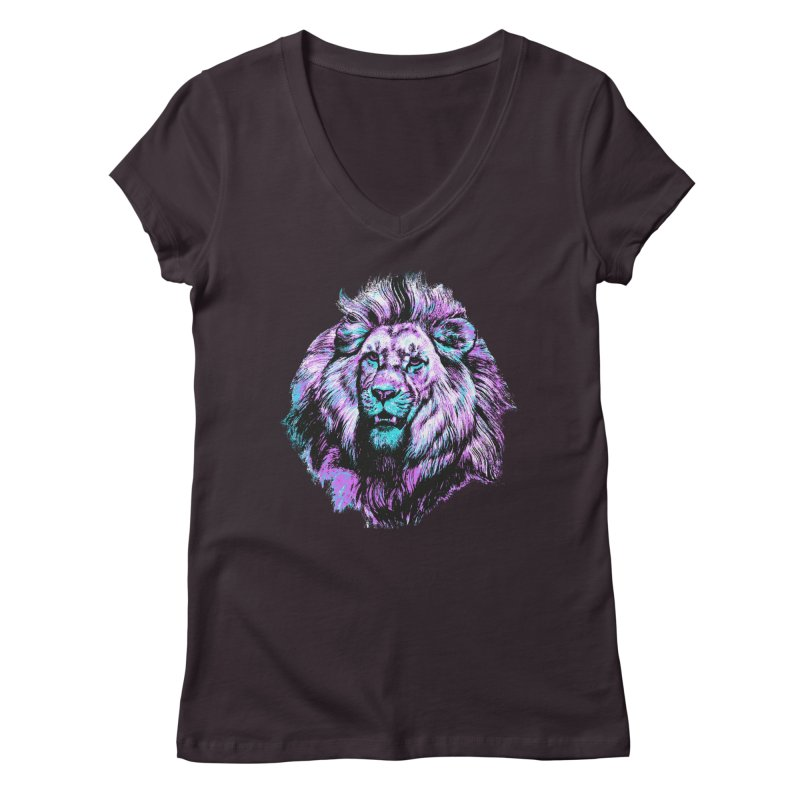 The Neon King Women's V-Neck by chevsy's Artist Shop