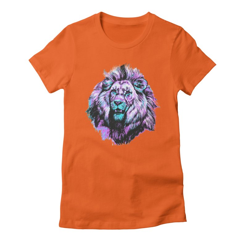 The Neon King Women's Fitted T-Shirt by chevsy's Artist Shop