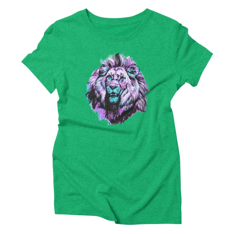 The Neon King Women's Triblend T-Shirt by chevsy's Artist Shop