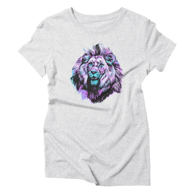 The Neon King Women's Triblend T-Shirt by chevsy's Artist Shop