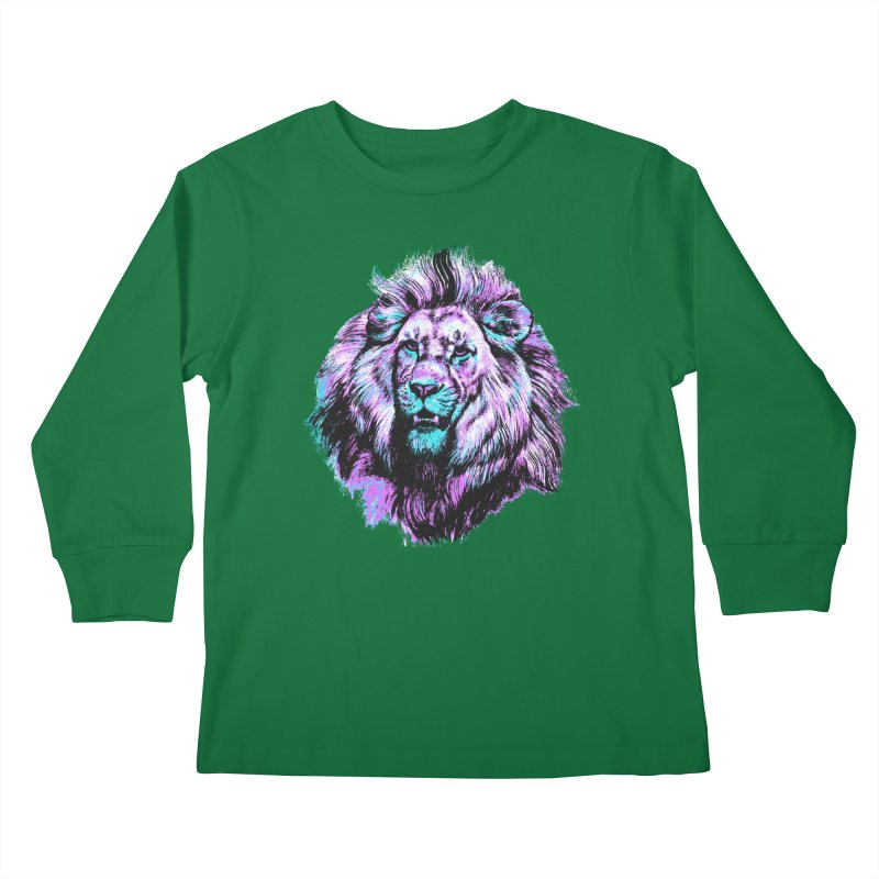 The Neon King Kids Longsleeve T-Shirt by chevsy's Artist Shop