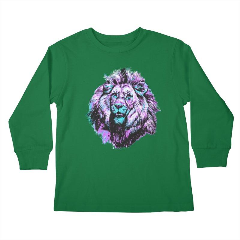 The Neon King Kids Longsleeve T-Shirt by chevsy's Artist Shop
