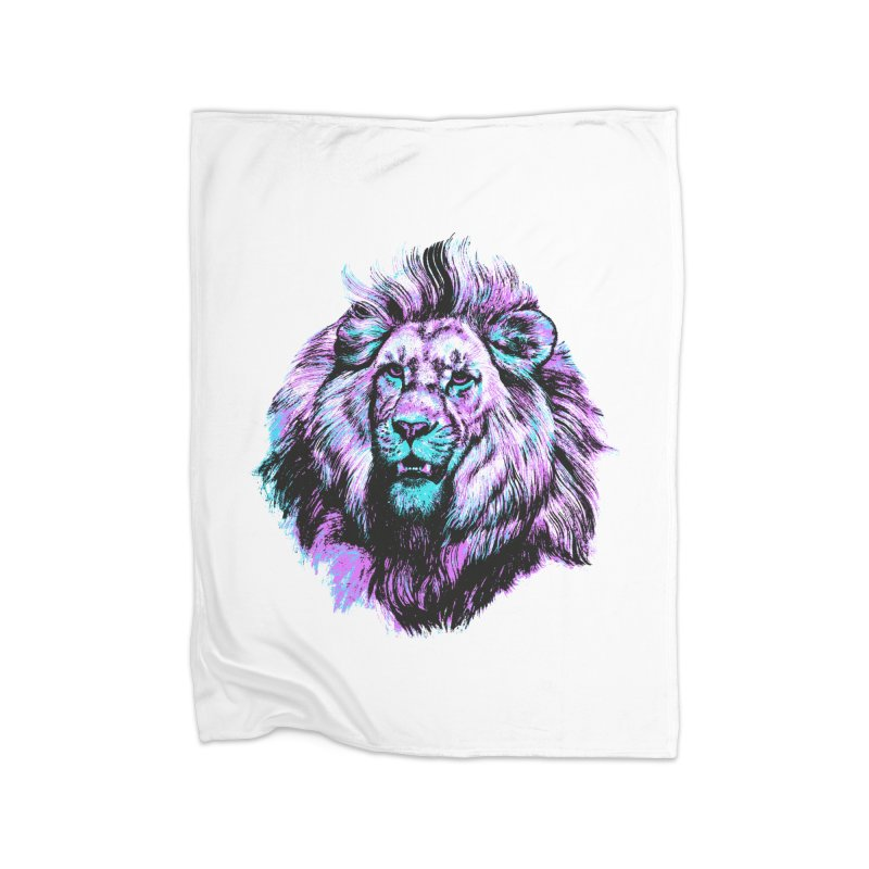 The Neon King Home Fleece Blanket Blanket by chevsy's Artist Shop