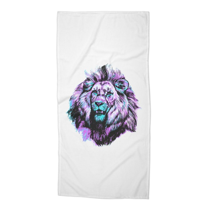 The Neon King Accessories Beach Towel by chevsy's Artist Shop