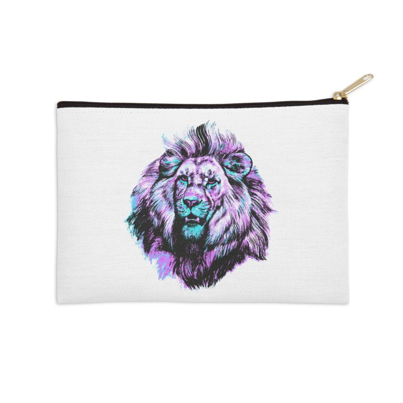 The Neon King Accessories Zip Pouch by chevsy's Artist Shop